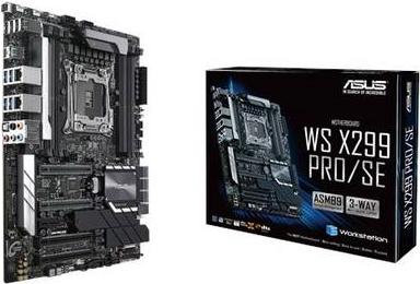 ASUS WS X299 PRO/SE - Motherboard - ATX - LGA2066 Socket - X299 - USB 3,1 Gen 1, USB-C Gen2, USB 3,1 Gen 2 - 2 x Gigabit LAN - HD Audio (8-Kanal) (90SW00A0-M0EAY0)