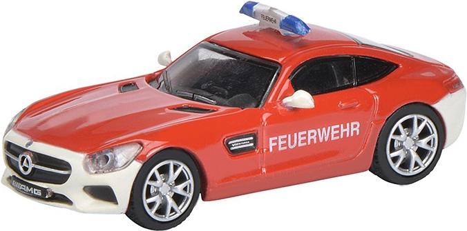 Schuco Mercedes-Benz AMG GT S Feuerwehr Vormont...
