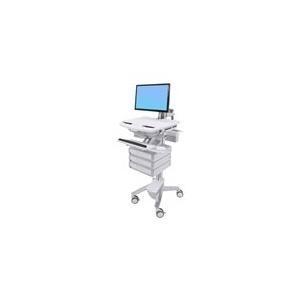 Ergotron StyleView Cart with LCD Arm, 3 Drawers - Wagen für LCD-Display / Tastatur Maus CPU Notebook Scanner (offene Architektur) Kunststoff, Aluminium, verzinker Stahl Bildschirmgröße: bis zu 61cm (bis 61,00cm (24) ) (SV43-1230-0) jetztbilligerkaufen