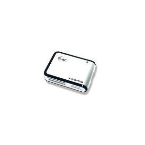 I-TEC Card Reader USB 2.0 All in One - direkt Unterstuetzung fuer microSD und M2 - WEISS/SCHWARZ (USBALL3-W)