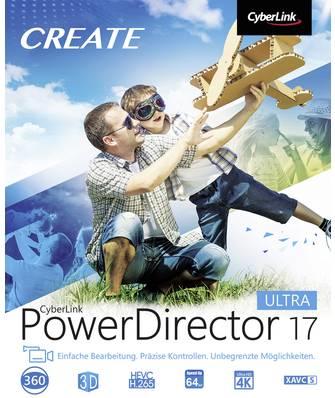 Cyberlink Vollversion, 1 Lizenz Windows Videobearbeitung (PowerDirector 17 Ultra)