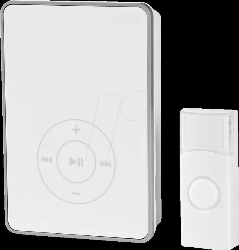 N DOORB113WT - Funk-Tuerklingel-Set Batteriebetrieben (DOORB113WT)