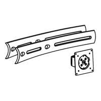 Ergotron DS100 Triple Display Upgrade Kit - Montagekomponente (Pivot, Verlängerte Halterung) für Dreifach-Flachbildschirm - Schwarz - Montageschnittstelle: 100 x 100 mm, 75 x 75 mm (97-446-200)