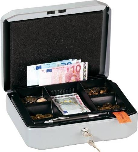 Durable CASHBOX S Metall Grau Geld- & Kartenkas...