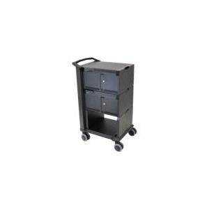 Ergotron Tablet Management Cart 32 with ISI - Wagen für 32 Webtablets - Aluminium, Stahl, ABS-Kunststoff - Schwarz - Bildschirmgröße: 25,4 cm (bis zu 25,40cm (10)) (DM32-1004-2)