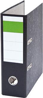 Soennecken Ordner DIN A5 hoch 75mm Recyclingpapier schwarz (120722500)