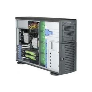 Super Micro Supermicro SuperServer 7049A-T - Server Tower 4U zweiweg RAM 0GB SATA Hot-Swap 8,9 cm (3.5) kein HDD AST2500 GigE Monitor: keiner (SYS-7049A-T)