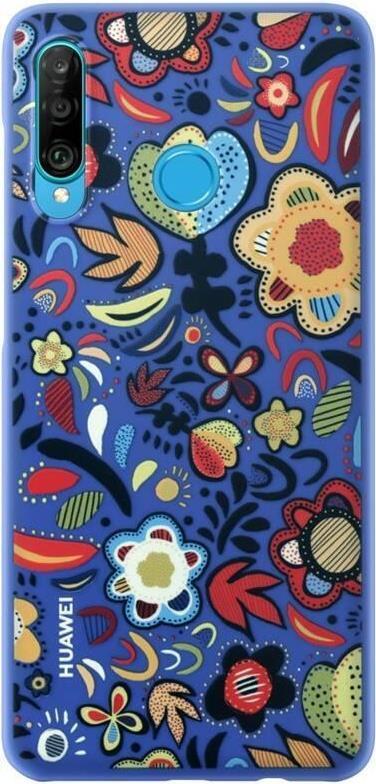 Image of Huawei - Hintere Abdeckung für Mobiltelefon - Thermoplastisches Polyurethan (TPU) - Flower Blue - für Huawei P30 lite (51993074)