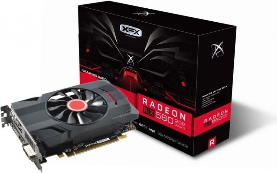 XFX Radeon RX 560D - Grafikkarten - Radeon RX 560 - 2 GB GDDR5 - PCIe 3.0 - DVI, HDMI, DisplayPort