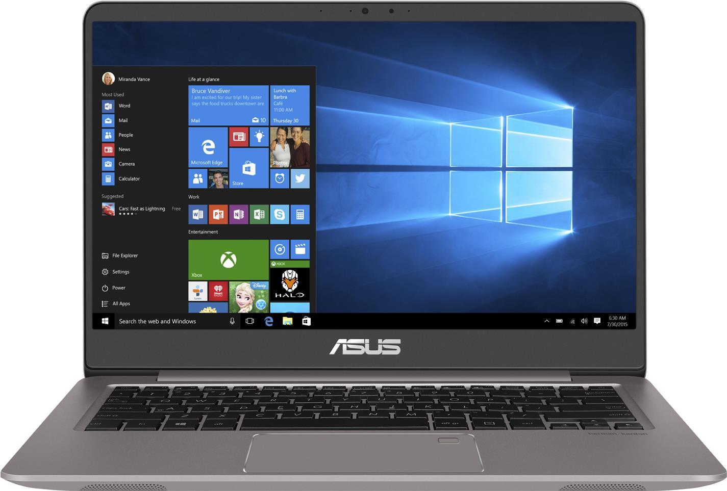 Notebooks, Laptops - Asus Zenbook UX3410UA GV578T Core i7 7500U 2.7 GHz Win 10 Home 64 Bit 16 GB RAM 512 GB SSD 35.6 cm (14) 1920 x 1080 (Full HD) HD Graphics 620 Wi Fi, Bluetooth Quartzgrau (90NB0DL1 M04500)  - Onlineshop JACOB Elektronik