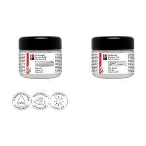 Marabu Acryl-Strukturgel, 225 ml, farblos matt mit bis zu 20% Marabu Acrylfarben mischbar, wasserfest, - 1 Stück (122825102)