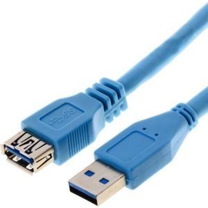 Herweck Helos - USB-Verlängerungskabel 9-polig USB Typ A (M) (W) 5,0m (USB3.0) Blau (014687) - broschei