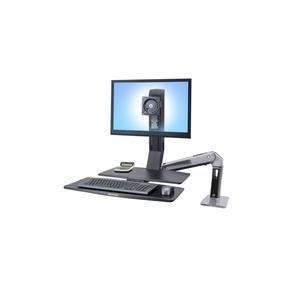 Ergotron Monitor-Tischhalterung 25,4cm (10 ) - 76,2cm (30 Neigbar+Schwenkbar, Rotierbar WorkFit-A, jetztbilligerkaufen