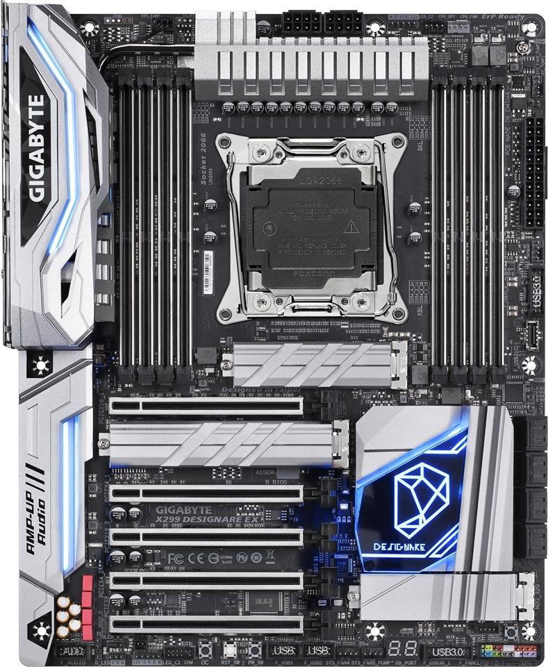 Gigabyte X299 DESIGNARE EX - 1.0 - Motherboard - ATX - LGA2066 Socket - X299 - USB 3.1 Gen 1, USB-C Gen2 - Bluetooth, 2 x Gigabit LAN, Wi-Fi - Onboard-Grafik - HD Audio (8-Kanal)