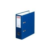 herlitz PP-Ordner, DIN A5 hoch, Rückenbreite: 75 mm, blau Kunststoff-Ordner, ganarbte PP-Folie, grauer Innenspiegel (10842326)