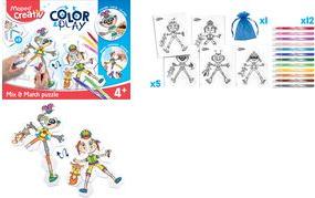 Maped Creativ COLOR & PLAY Kreativset Puzzle Mix & Match Puzzle Fasermalern selbst gestalten, für Kinder ab 4 Jahre, - 1 Stück (907001)