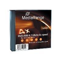 MediaRange 4.7GB - DVD+RW - 5 pack 4.7GB DVD+RW 5Stück(e) (MR449)