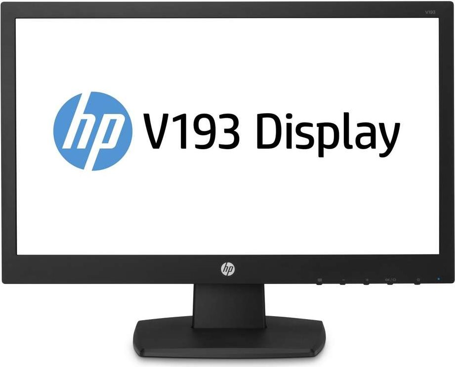 Computermonitore - HP v193 LED Monitor 47 cm (18.5) (18.5 sichtbar) 1366 x 768 TN 200 cd m² 600 1 5 ms VGA Schwarz  - Onlineshop JACOB Elektronik