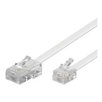 Wentronic 6m RJ-11/RJ-45 Cable - RJ-11 - RJ-45 - Männlich/männlich - Weiß (93062)