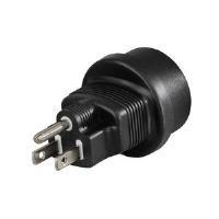 Hama Travel Adapter Plug - Netzteil - NEMA 5-15 (M) bis CEE 7/4 (SCHUKO) (W) - Schwarz - Vereinigte Staaten (108880)