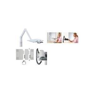 Novus TalkMaster - Befestigungskit (Tablett, Spannbefestigung für Tisch, 2 Gelenkarme) für telephone (Swivel ) - Hellgrau - Tischmontage (optional) (710+0002)