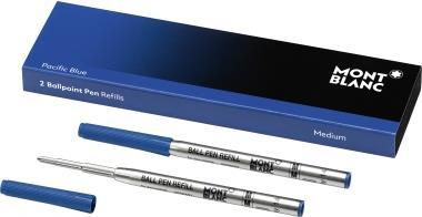 Montblanc Kugelschreibermine PACIFIC BLUE 116213 M bl 2 St./Pa (116213)