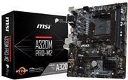 MSI A320M PRO-M2 - Motherboard - micro ATX - Socket AM4 - AMD A320 - USB 3.1 Gen 1 - Gigabit LAN - Onboard-Grafik (CPU erforderlich) - HD Audio (8-Kanal)