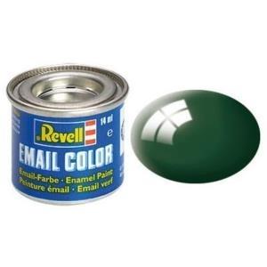 Revell Moosgrün - glänzend RAL 6005 14 ml-Dose Farbe Grün Kunstharz Emaillelackierung Zinn (32162)