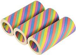 PAPSTAR Riesenluftschlangen Rainbow, aus Papier, 5 Farben Länge: 15 m, Breite: 1,4 cm, flammhemmend gemäß DIN 4102, - 1 Stück (18858)