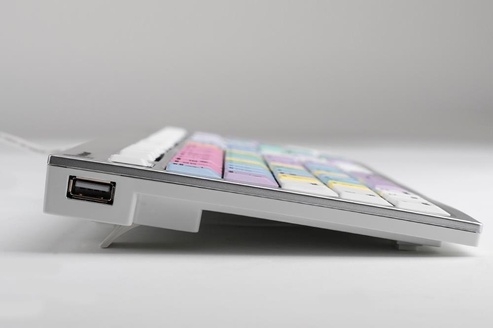 Logickeyboard LKB-FCPX10-CWMU-FR USB AZERTY Französisch Mehrfarben Tastatur (LKB-FCPX10-CWMU-FR)