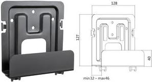 LogiLink - Wandhalterung für Medien-Player - Stahl