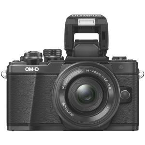 Systemkameras - Olympus OM D E M10 Mark II Digitalkamera spiegellos 16.1 MPix Four Thirds 1080p 3x optischer Zoom M.Zuiko Digital ED, 14 42 mm, EZ Objektiv Wi Fi Schwarz  - Onlineshop JACOB Elektronik