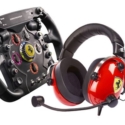 Thrustmaster Ferrari F1 Wheel Add On T Racing Scuderia Ferrari Edition Steuerrad Pc Analog Digital Usb Schwarz 4160764
