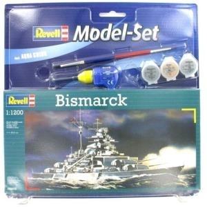 Revell Bismarck - 1:1200 - Marineschiff - Monta...