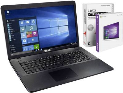 Notebooks, Laptops - Asus ASU N4200 1TB 43.9 cm (17.3' ) Notebook Intel® Pentium® 8 GB 1024 GB HDD Intel HD Graphics 505 Windows® 10 Pro (ASU N4200 1TB)  - Onlineshop JACOB Elektronik