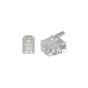 Wentronic goobay - Telefonanschluss - RJ-11/RJ-14 (M) - ungeschirmt - durchsichtig (58625)