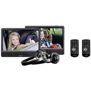 DVD Player, Blu Ray - Lenco DVP 1045 Kopfstützen DVD Player mit 2 Monitoren 25.5 cm Kopfhörer Integrierter Akku (DVP1045)  - Onlineshop JACOB Elektronik