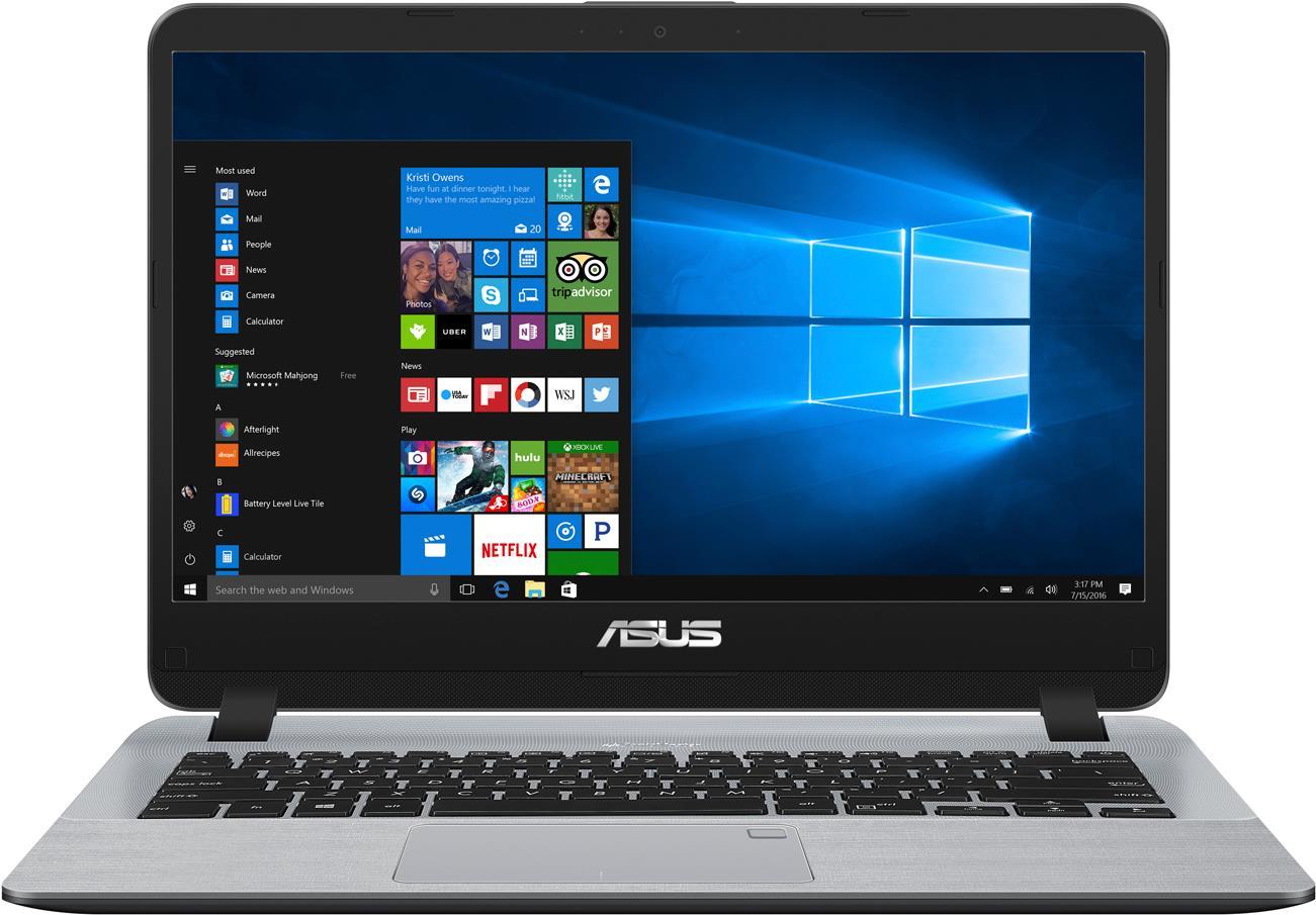 Notebooks, Laptops - ASUS X507UA BQ168T Core i5 7200U 2.5 GHz Windows 10 Home 8 GB RAM 1 TB HDD 39.6 cm (15.6) 1920 x 1080 (Full HD) HD Graphics 620 802.11ac, Bluetooth sternengrau  - Onlineshop JACOB Elektronik
