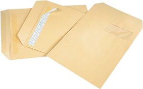 GPV Versandtaschen, 19, 190 x 275 mm, braun, ohne Fenster Gewicht: 90 g, mit Silikonstreifen, PEFC-zertifiziert - 1 Stück (4254)