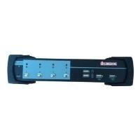 Longshine 4-Port USB/PS2 KVM Switch DVI/Audio inkl. Kabel (LCS-K704D)