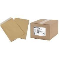 GPV Versandtaschen, C5, braun, 90 g/qm mit Silikonstreifen, Großpackung - 1 Stück (505)