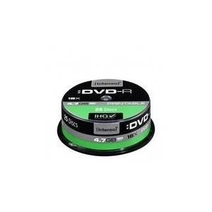 Intenso - 25 x DVD-R (G) - 4,7GB 16x - mit Tintenstrahldrucker bedruckbare Oberfläche - Spindel (4801154)