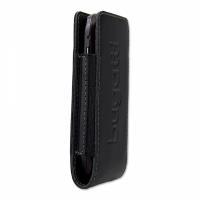 style for mobile Bugatti Twin Size S - Tasche für Mobiltelefon - Kalbsleder - Confident Black - für LG KM570, Nokia 27XX, 52XX, C1, C2, C3, C5, X3, X6, Samsung GT S3370, Wave 525, 723 (07142)