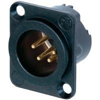 Neutrik XLR-Steckverbinder Flanschstecker, Kontakte gerade Polzahl: 4 Schwarz NC4MD-LX-B 1 St. - broschei