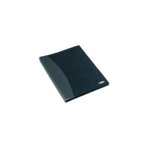 REXEL Sichtbuch SOFT TOUCH COMBO, A4, mit 36 Hüllen, schwarz Einband glatt und in Velourlederoptik kombiniert, fest- (2101190)