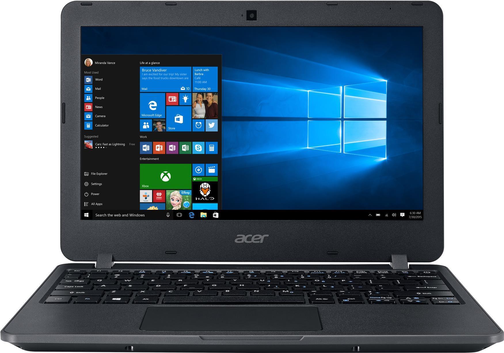 Notebooks, Laptops - Acer TravelMate B117 M P72Q Pentium N3710 1.6 GHz Windows 10 S 64 bit 4 GB RAM 64 GB eMMC 29.5 cm (11.6) 1366 x 768 (HD) HD Graphics 405 Wi Fi, Bluetooth Schwarz kbd Deutsch  - Onlineshop JACOB Elektronik