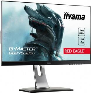 Iiyama G-MASTER Red Eagle GB2760QSU-B1 - LED-Monitor - 68,5 cm (27) (27 sichtbar) - 2560 x 1440 WQHD - TN - 350 cd/m² - 1000:1 - 1 ms - HDMI, DVI-D, DisplayPort - Lautsprecher - Schwarz (GB2760QSU-B1)