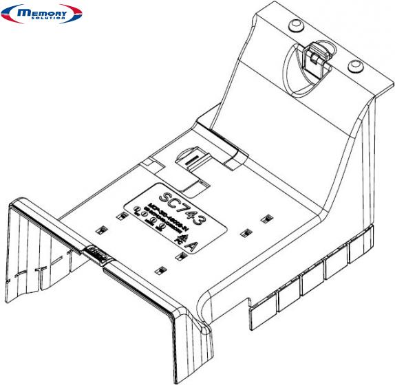 Supermicro - Luftkanal - für Supermicro SC743I,...
