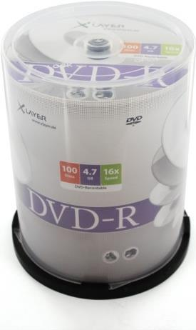XLayer DVD-R 4.7GB 16x 100er Cakebox (207671)