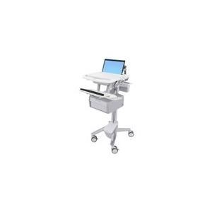 Ergotron StyleView - Wagen für Notebook/Tastatur/Maus/Barcode-Scanner (offene Architektur) verriegelbar medizinisch Aluminium, verzinker Stahl, hochwertiger Kunststoff Bildschirmgröße: bis zu 43,9 cm (bis 17.3) (SV43-11B0-0) jetztbilligerkaufen
